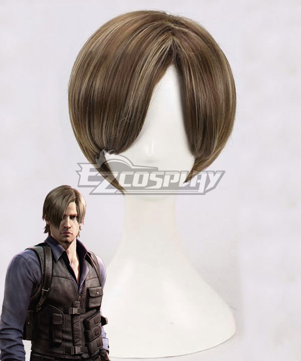 Resident Evil Leon Scott Kennedy Brown Cosplay Wig