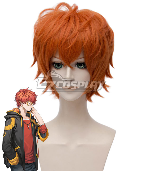 Mystic Messenger 707 Orange Cosplay Wig