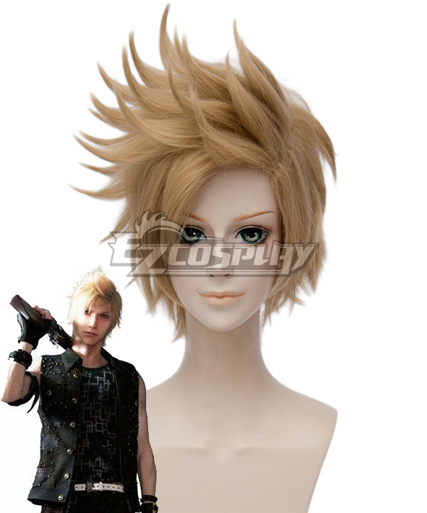 Final Fantasy XV Prompto Argentum Golden Cosplay Wig - B Edition