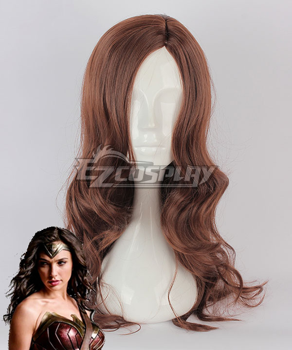 Wonder Woman Pink Cosplay: DC Wonder Woman Diana Prince Brown Cosplay Wig