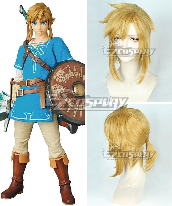 The Legend of Zelda: Breath of the Wild Link Gloden Cosplay Wig