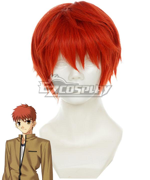 Fate Stay Night Shirou Emiya Orange red Cosplay Wig - 332C