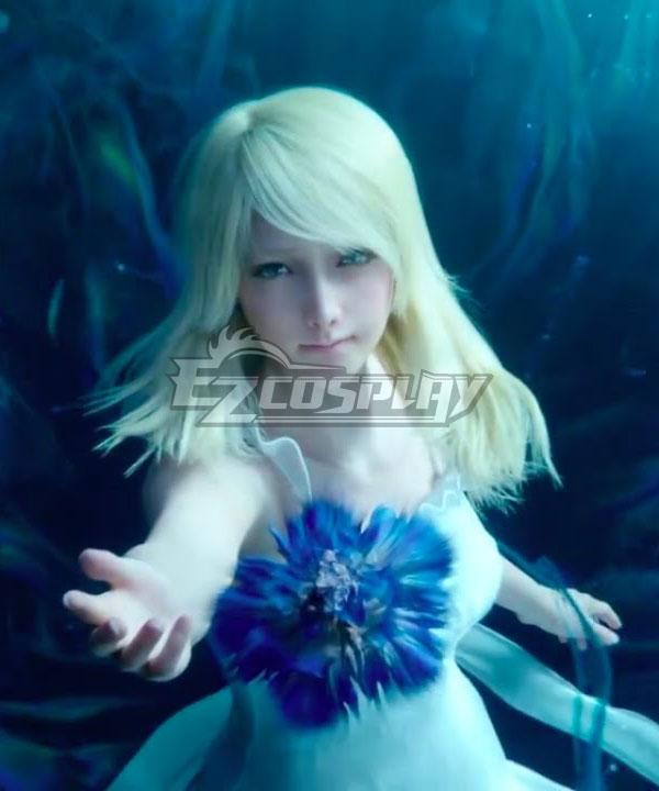 Final Fantasy XV Lunafreya Nox Fleuret Young Multicolor Cosplay Wig