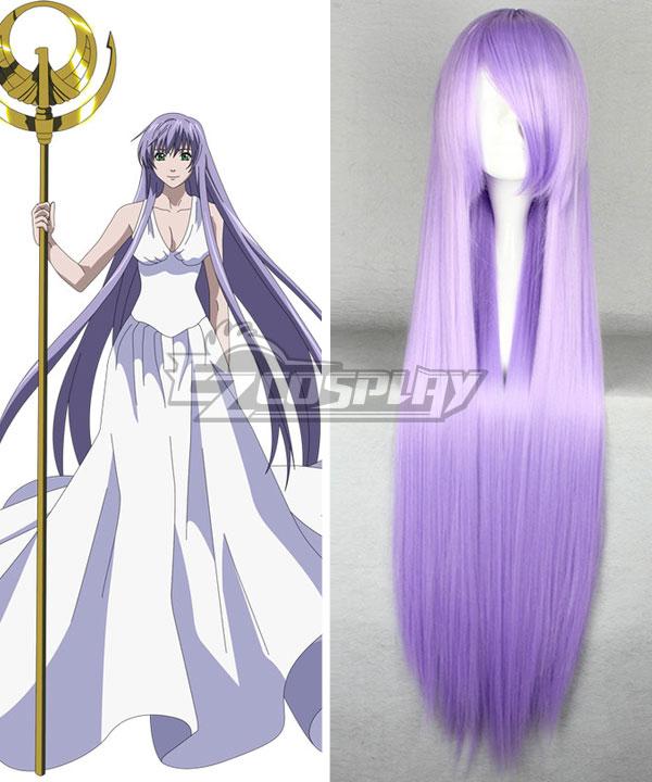 Saint Seiya Knights of the Zodiac Athena Purple Cosplay Wig