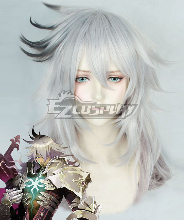 Fate Apocrypha Saber of Black Siegfried Silver White Cosplay Wig