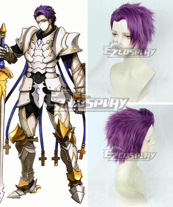 Fate Grand Order Lancelot Purple Cosplay Wig