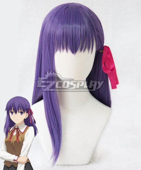 Fate Stay Night Sakura Matou Purple Cosplay Wig