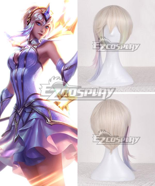 League of Legends LOL Light Elementalist Lux Light Golden Cosplay Wig
