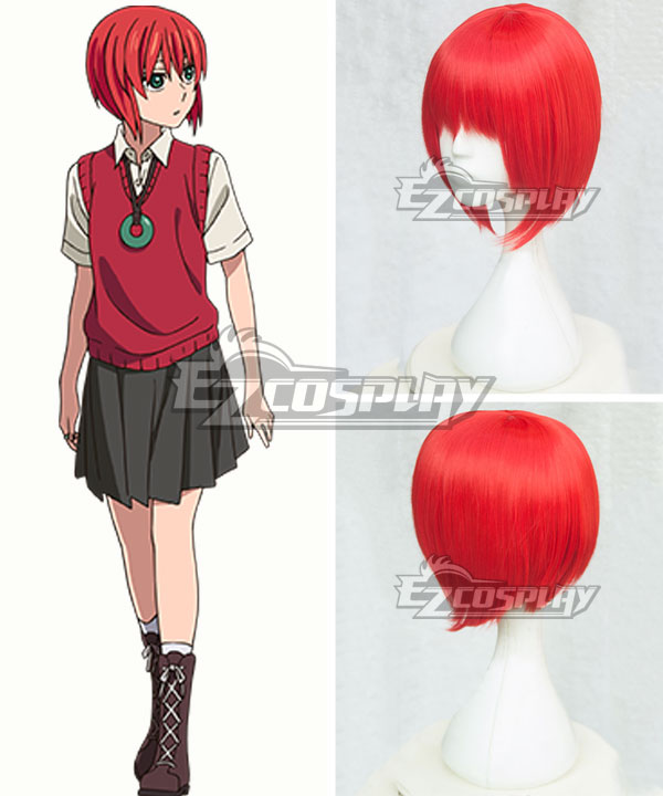 The Ancient Magus' Bride Mahoutsukai no Yome Chise Hatori Red Cosplay Wig