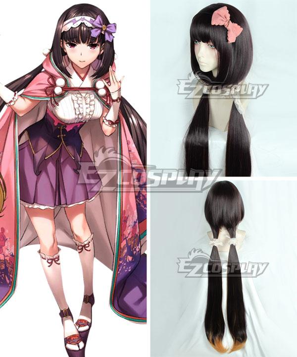 Fate Grand Order Osakabehime Black Orange Cosplay Wig - Only Wig
