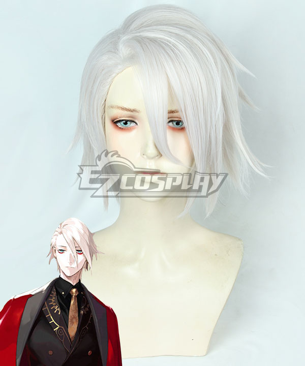 Fate Grand Order Lancer of Red Karna 2nd Anniversary White Cosplay Wig