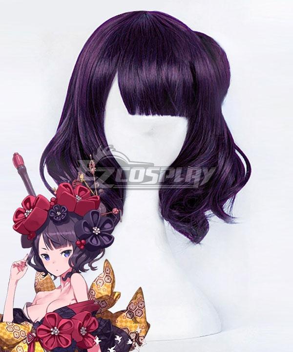 Fate Grand Order FGO Katsushika Hokusai Purple Cosplay Wig