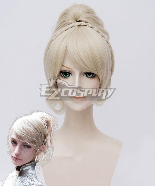 Final Fantasy XV FFXV Lunafreya Nox Fleuret Light Golden Cosplay Wig