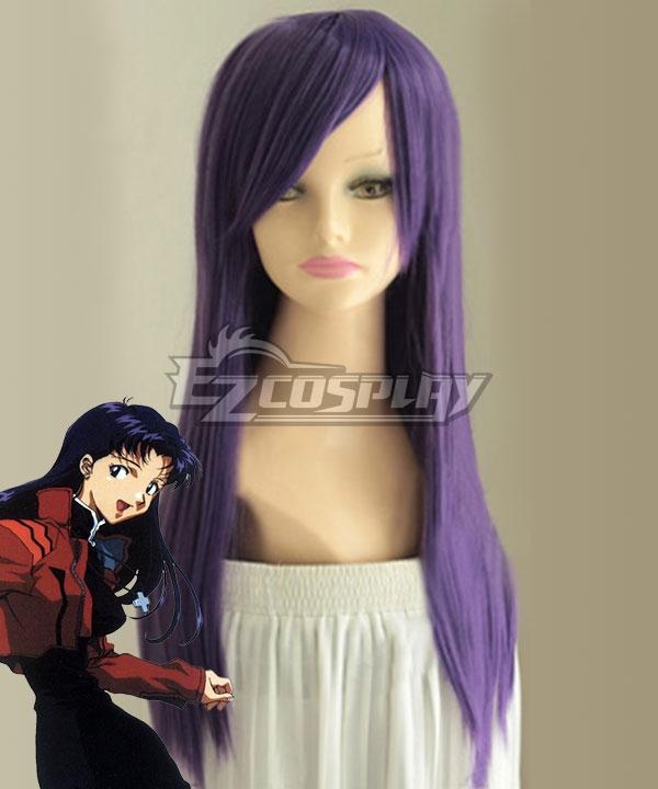 EVA Neon Genesis Evangelion Misato Katsuragi Purple Cosplay Wig