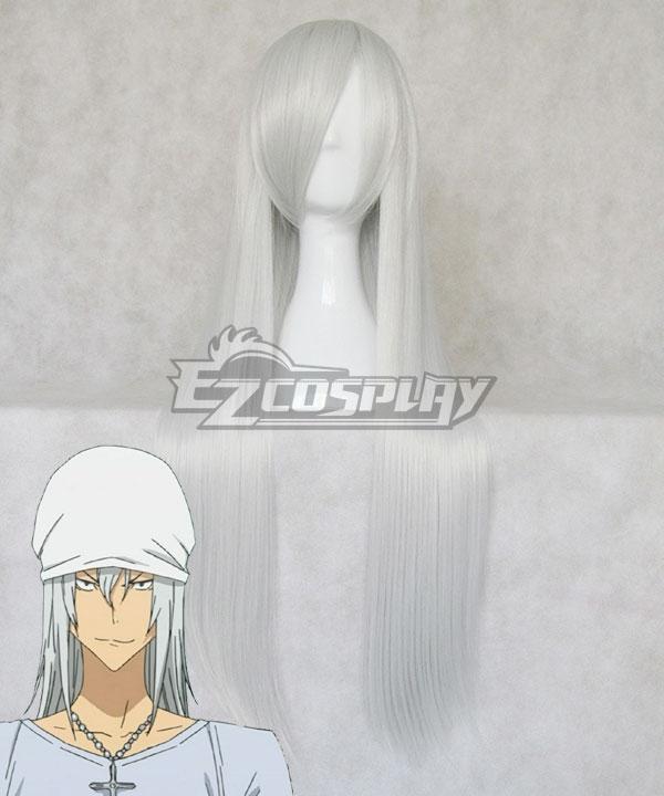 Bakuman Shinta Fukuda Sliver White Cosplay Wig