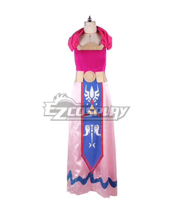 The Legend of Zelda: The Wind Waker Zeruda no Densetsu Kaze no Takuto Princess Zelda Cosplay Costume