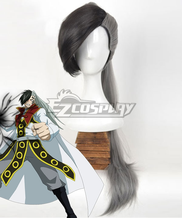 Fairy Tail Future Rogue Cheney Black Gray Cosplay Wig