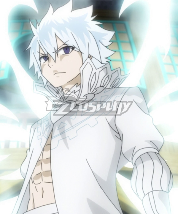 Fairy Tail The Black Wizard Zeref Dragneel White Cosplay Costume