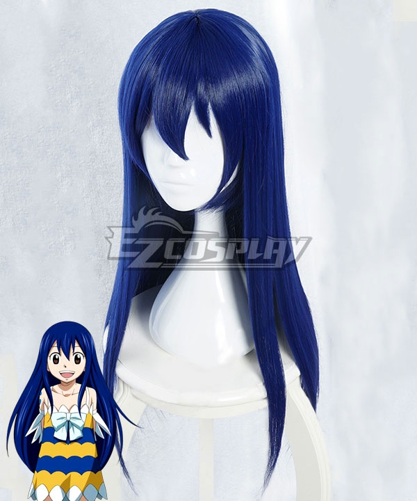 Fairy Tail Wendy Marvell Blue Long Cosplay Wig