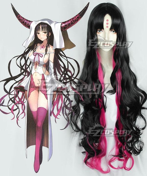 Fate Grand Order Alterego Sesshouin Kiara Black Pink Cosplay Wig