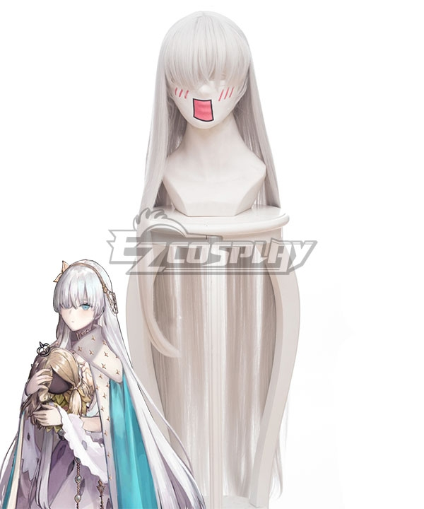 Fate Grand Order Anastasia Nikolaevna Romanova Silver White Cosplay Wig 235V