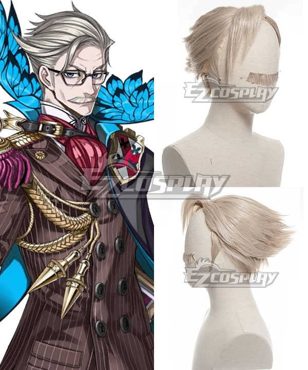 Fate Grand Order Archer James Moriarty White Cosplay Wig