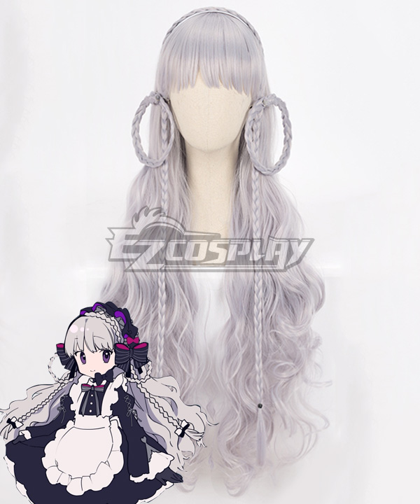 Fate Grand Order Fate EXTRA Last Encore Caster Nursery Rhyme White Cosplay Wig