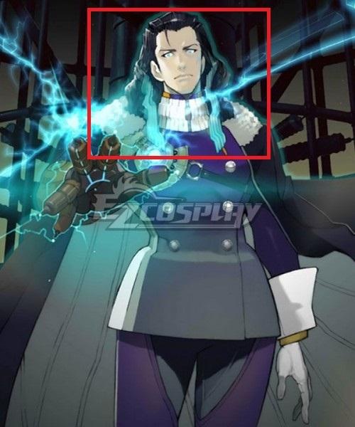 Fate Grand Order FGO Rider Nikola Tesla Black Blue Cosplay Wig