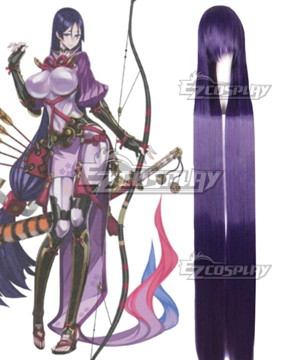 Fate Grand Order Minamoto No Yorimitsu Minamoto No Raikou Deep Purple Cosplay Wig
