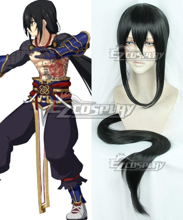 Fate Grand Order Yan Qing Black Cosplay Wig