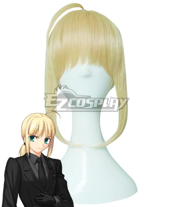 Fate Zero Saber Altria Pendragon Golden Cosplay Wig