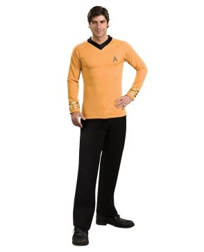 Image of Star Trek Classic Gold Shirt Deluxe Adult Costume