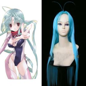 DearS Ren Commission Long Blue Cosplay Wig EWG0046