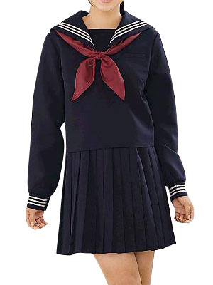 Vintage Style Children's Clothing: Girls, Boys, Baby, Toddler High waisted Deep Blue Long Sleeves Sailor Uniform Cosplay Costume $67.99 AT vintagedancer.com
