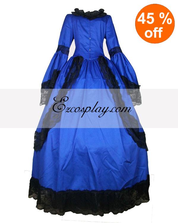 Sleeve   Dress   Lace   Long   Blue