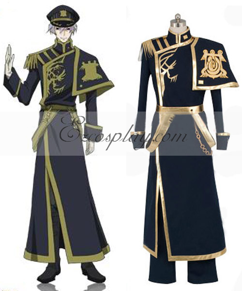 Image of 07-GHOST Ayanami Barsburg Empire Uniform Cosplay Costume