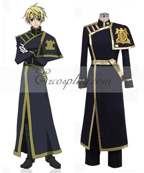 Image of 07-Ghost Konatsu Barsburg Empire Uniform Cosplay Costume