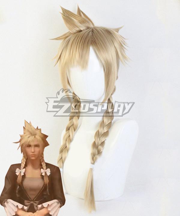 Final Fantasy VII Remake Cloud Strife Girl Golden Cosplay Wig
