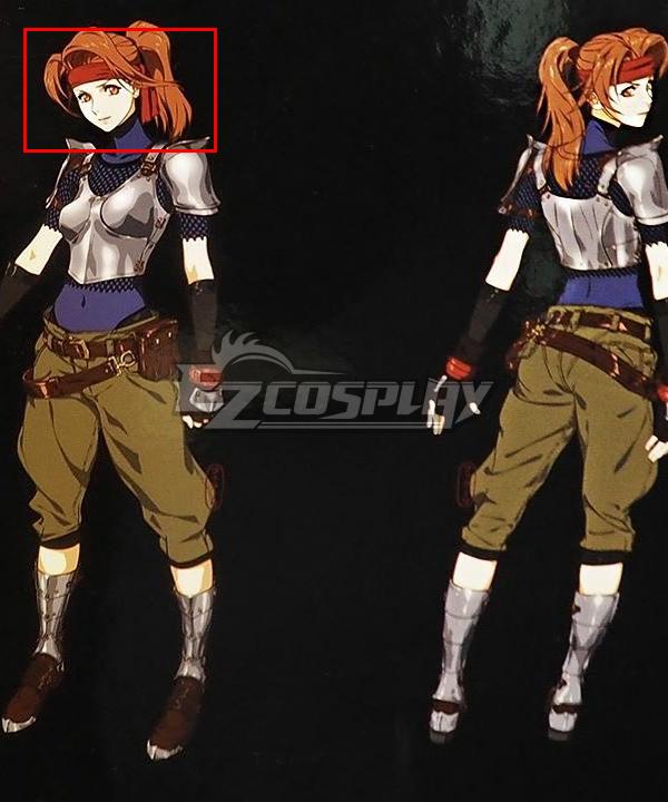 Final Fantasy VII Remake FF7 Jessie Orange Cosplay Wig