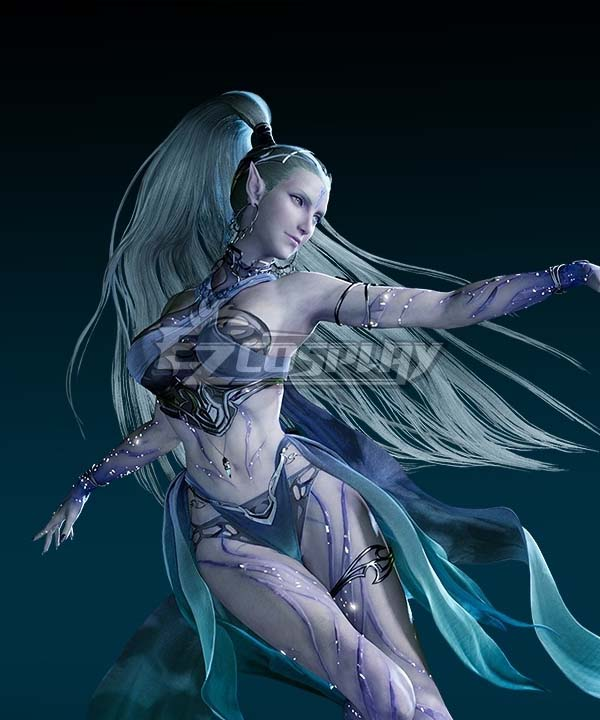 Final Fantasy VII Remake FF7 Shiva Silver Cosplay Wig