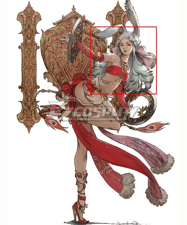 Final Fantasy XIV FF14 Dancer White Cosplay Wig