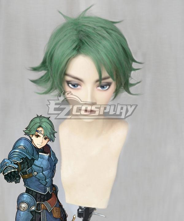 Fire Emblem Echoes: Shadows Of Valentia Alm Green Cosplay Wig