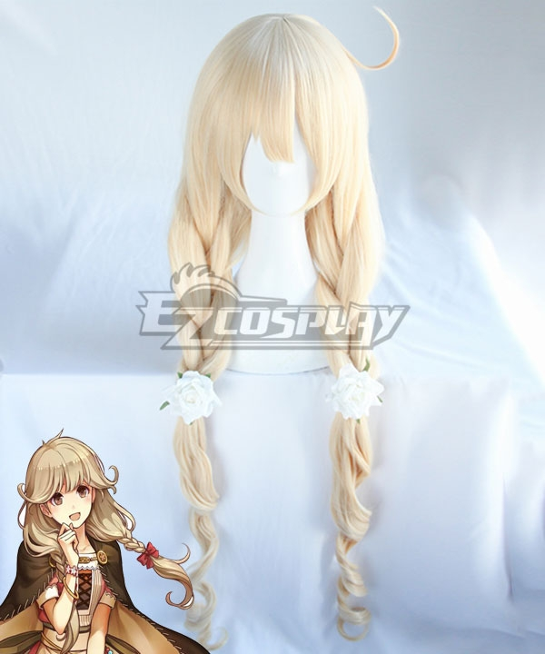 Fire Emblem Echoes: Shadows Of Valentia Faye Golden Cosplay Wig - Only Wig