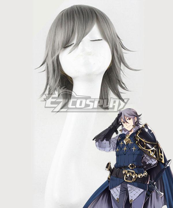 Fire Emblem Fates Laslow Grey Cosplay Wig