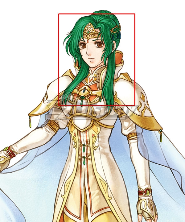 Fire Emblem Radiant Dawn Elincia Green Cosplay Wig