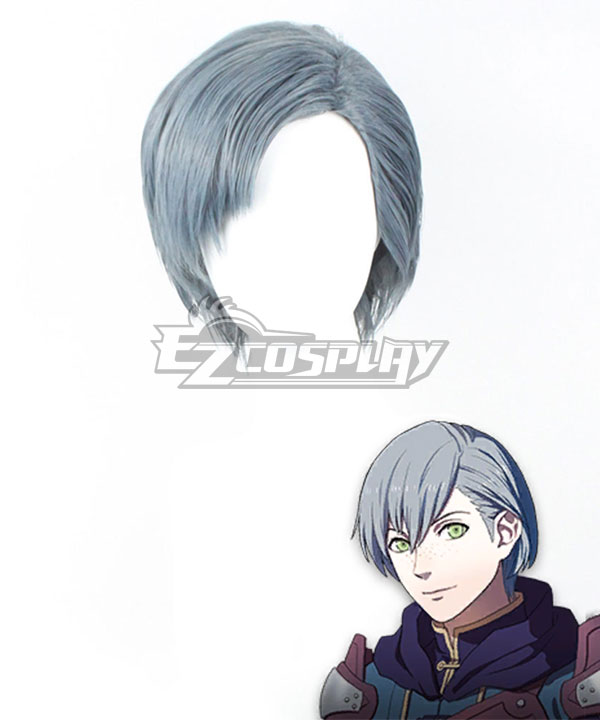 Fire Emblem: Three Houses 5 Years Ashe Grey Cosplay Wig
