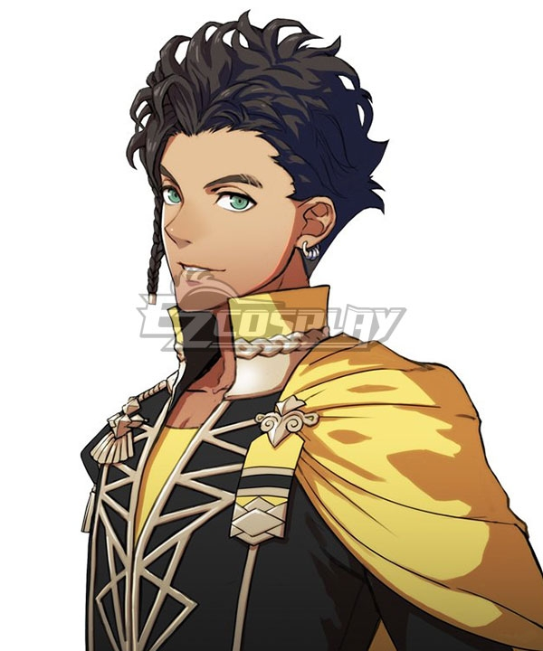 Fire Emblem: Three Houses Claude von Regan Black Cosplay Wig