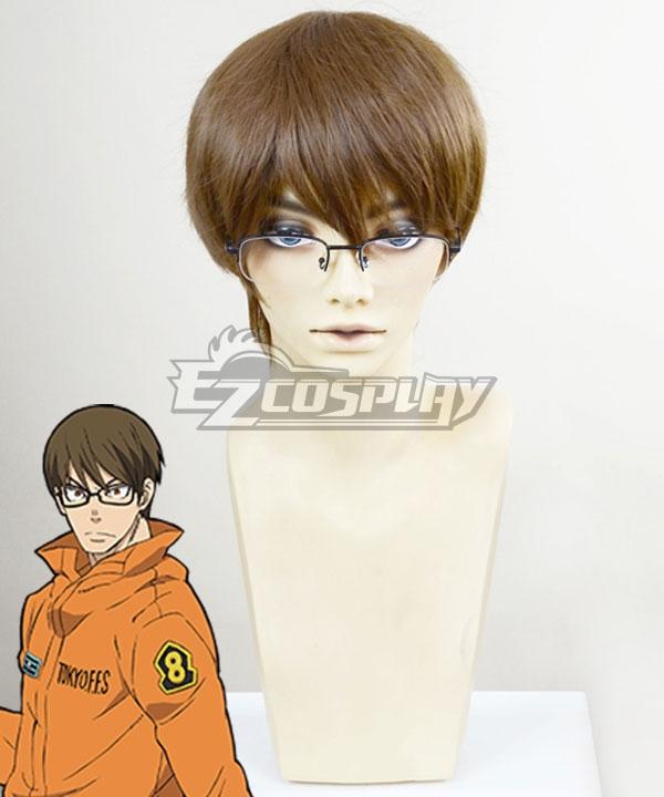 Fire Force Enen No Shouboutai Takehisa Hinawa Brown Cosplay Wig