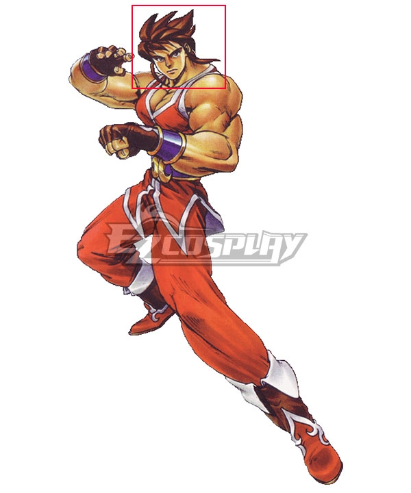 Flying Dragon Nintendo 64 Ryuhi Rick Brown Cosplay Wig