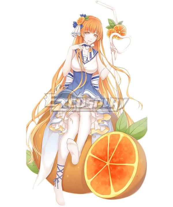 Food Contract Game Orange Juice Cosplay Costume #food